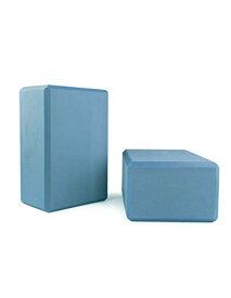 """ヨガブロック フィットネス 【送料無料】4"""" Yoga Blocks 4 lb (2 Per Pack) Blueヨガブロック フィットネス"""