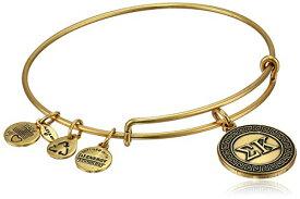 """アレックスアンドアニ アメリカ アクセサリー ブランド かわいい Alex and Ani """"Sorority"""" Sigma Kappa Expandable Rafaelian Gold-Tone Wire Bangle Braceletアレックスアンドアニ アメリカ アクセサリー ブランド かわいい"""