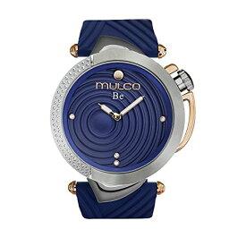 腕時計 マルコ レディース 【送料無料】Mulco Be Zen Swiss Quartz Women's Watch | Premium Pearl Finishing Sundial Display with Rose Gold and Swarovsky Accents | Blue Watch Band | Water Resistant Stainless Steel Watch | M腕時計 マルコ レディース