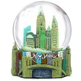 スノーグローブ 雪 置物 インテリア 海外モデル 【送料無料】Musical New York City Snow Globe, 100mm New York City Snow Globes, 5.5 Inches Tall, Plays New York, New Yorkスノーグローブ 雪 置物 インテリア 海外モデル