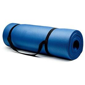 ヨガマット フィットネス SYOG-003 【送料無料】Crown Sporting Goods 5/8-Inch Extra Thick Yoga Mat with No Stick Ridge, Blueヨガマット フィットネス SYOG-003