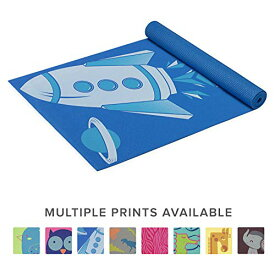 ヨガマット フィットネス 05-61637 【送料無料】Gaiam Kids Yoga Mat Exercise Mat, Yoga for Kids with Fun Prints - Playtime for Babies, Active & Calm Toddlers and Young Children, Blue Rocket, 3mmヨガマット フィットネス 05-61637
