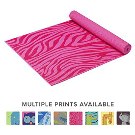 ヨガマット フィットネス 05-61640 Gaiam Kids Yoga Mat Exercise Mat, Yoga for Kids with Fun Prints - Playtime for Babies, Active & Calm Toddlers and Young Children, Pink Zebra, 3mmヨガマット フィットネス 05-61640