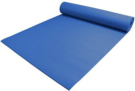 "ヨガマット フィットネス 【送料無料】YogaAccessories 1/4"" Thick High Density Deluxe Non Slip Exercise Pilates & Yoga Mat (Dark Blue)ヨガマット フィットネス"