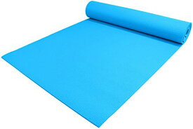 "ヨガマット フィットネス 【送料無料】YogaAccessories 1/4"" Thick High-Density Deluxe Non-Slip Exercise Pilates & Yoga Mat, Light Blueヨガマット フィットネス"