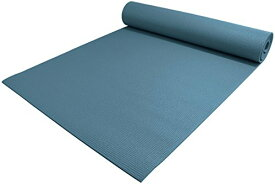 "ヨガマット フィットネス 【送料無料】YogaAccessories 1/4"" Thick High-Density Deluxe Non-Slip Exercise Pilates & Yoga Mat, Slate Blueヨガマット フィットネス"