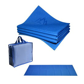 "ヨガマット フィットネス YFM-ECEL-287C 【送料無料】Khataland YoFoMat? - Best Travel Yoga Mat - Royal Blue, Extra Long 72"", 1/6"" Thick -Foldable to 12""x10""x3"", Eco Friendly, Free From Phthalates/Latexヨガマット フィットネス YFM-ECEL-287C"