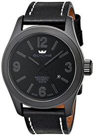 """腕時計 グリシン スイスウォッチ メンズ グライシン 【送料無料】Glycine Men's 3874-999-LB9B """"Incursore"""" Stainless Steel Automatic Watch with Black Leather band腕時計 グリシン スイスウォッチ メンズ グライシン"""