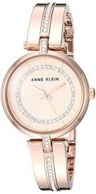 アンクライン 腕時計 レディース 【送料無料】Anne Klein Women's AK/3248RGRG Swarovski Crystal Accented Rose Gold-Tone Bangle Watchアンクライン 腕時計 レディース