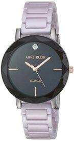 アンクライン 腕時計 レディース 【送料無料】Anne Klein Women's AK/3365GYLV Diamond-Accented Lavender Ceramic Bracelet Watchアンクライン 腕時計 レディース