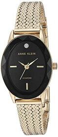 アンクライン 腕時計 レディース 【送料無料】Anne Klein Women's Genuine Diamond Dial Gold-Tone Mesh Bracelet Watch, AK/3498BKGBアンクライン 腕時計 レディース