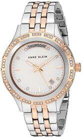 アンクライン 腕時計 レディース 【送料無料】Anne Klein Women's Swarovski Crystal Accented Day/Date Function Two-Tone Bracelet Watch, AK/3475SVRTアンクライン 腕時計 レディース