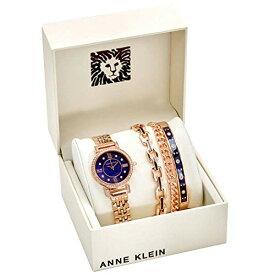 腕時計 アンクライン レディース 【送料無料】Anne Klein Navy Mother of Pearl Crystal Dial Ladies Watch and Bracelet Set AK/3400NRST腕時計 アンクライン レディース