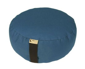 ヨガ フィットネス 【送料無料】Bean Products Medium Blue - Round Zafu Meditation Cushion - Yoga - 10oz Cotton - Organic Buckwheat Fill - Made in USAヨガ フィットネス
