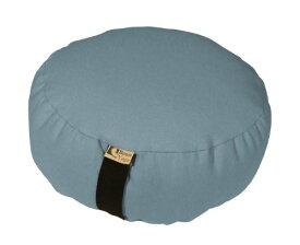 ヨガ フィットネス 【送料無料】Bean Products Zafu Meditation Cushion, Oval, Cotton Sky Blue - Filled with Organic Buckwheatヨガ フィットネス