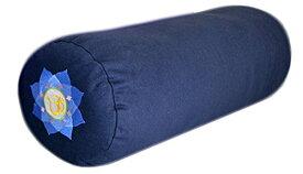 ヨガ フィットネス 【送料無料】YogaAccessories Supportive Round Cotton Yoga Bolster - Blue Embroideredヨガ フィットネス