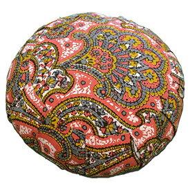 ヨガ フィットネス 【送料無料】YogaAccessories Round Cotton Zafu Meditation Cushion - Red and Goldヨガ フィットネス