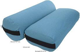 ヨガ フィットネス 【送料無料】Bean Products Yoga Bolster - Handcrafted in The USA with Eco Friendly Materials - Studio Grade Support Cushion That Elevates Your Practice & Lasts Longer - Round, Cotton Sky Blueヨガ フィットネス