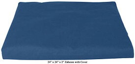 ヨガ フィットネス 【送料無料】Bean Products Medium Blue - Zabuton Meditation Cushion & Cover - Standard Size - 24 x 24 x 2 - Yoga - 100% Cotton - Made in USAヨガ フィットネス