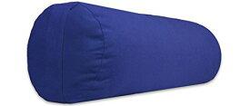 ヨガ フィットネス 【送料無料】YogaAccessories Small Junior Sized Round Cotton Yoga Bolster - Blueヨガ フィットネス