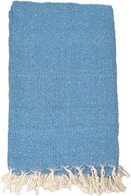 ヨガ フィットネス 【送料無料】YogaAccessories Solid Color Mexican Yoga Blanket - Light Blueヨガ フィットネス