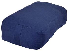 ヨガ フィットネス 【送料無料】YogaAccessories Small Rectangular Cotton Yoga Bolster - Blueヨガ フィットネス
