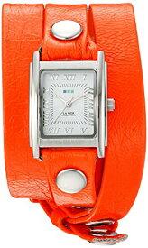 ラメールコレクションズ 腕時計 レディース LMSTWGMA14014 La Mer Collections Women's 'La Mer Collections Women's Neon Orange Silver Triple Wrap Watch' Quartz Orange Leather Casual Watch (Model: LMSTラメールコレクションズ 腕時計 レディース LMSTWGMA14014