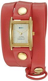 ラメールコレクションズ 腕時計 レディース WANDERLUST00108 La Mer Collections 00108 Wanderlust Gold-Tone Watch with Synthetic Leather Braceletラメールコレクションズ 腕時計 レディース WANDERLUST00108