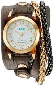 ラメールコレクションズ 腕時計 レディース LMACETATECH002 La Mer Collections Women's 'Double Motor Chain' Quartz Gold-Tone and Leather Watch, Multi Color (Model: LMACETATECH002)ラメールコレクションズ 腕時計 レディース LMACETATECH002