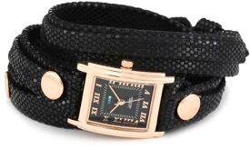 ラメールコレクションズ 腕時計 レディース LMLW7010 La Mer Collections Women's LMLW7010 Layered Wraps Black Sequin Layer Black Face Watchラメールコレクションズ 腕時計 レディース LMLW7010