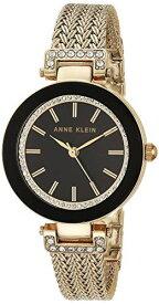 アンクライン 腕時計 レディース AK/1906BKGB 【送料無料】Anne Klein Women's Swarovski Crystal-Accented Watch with Gold-Tone Mesh Braceletアンクライン 腕時計 レディース AK/1906BKGB