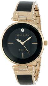 アンクライン 腕時計 レディース AK/1414BKGB 【送料無料】Anne Klein Women's AK/1414BKGB Diamond-Accented Bangle Watchアンクライン 腕時計 レディース AK/1414BKGB