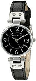 腕時計 アンクライン レディース 10/9443BKBK 【送料無料】Anne Klein Women's 109443BKBK Silver-Tone Black Dial and Black Leather Strap Watch腕時計 アンクライン レディース 10/9443BKBK