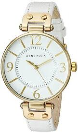 腕時計 アンクライン レディース 10/9168WTWT 【送料無料】Anne Klein Women's 109168WTWT Gold-Tone and White Leather Strap Watch腕時計 アンクライン レディース 10/9168WTWT