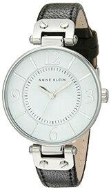 アンクライン 腕時計 レディース 10/9169WTBK 【送料無料】Anne Klein Women's 109169WTBK Silver-Tone and Black Leather Strap Watchアンクライン 腕時計 レディース 10/9169WTBK