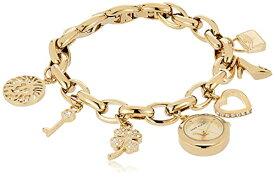 腕時計 アンクライン レディース 10/7604CHRM 【送料無料】Anne Klein Women's 10-7604CHRM Swarovski Crystal Gold-Tone Charm Bracelet Watch腕時計 アンクライン レディース 10/7604CHRM