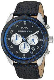 腕時計 マイケルコース メンズ マイケル・コース アメリカ直輸入 【送料無料】Michael Kors Men's Keaton Stainless Steel Quartz Watch with Leather Strap, Multi, 22 (Model: MK8706)腕時計 マイケルコース メンズ マイケル・コース アメリカ直輸入