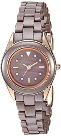 アンクライン 腕時計 レディース 【送料無料】Anne Klein Women's AK/3164MVRG Swarovski Crystal Accented Rose Gold-Tone and Mauve Ceramic Bracelet Watchアンクライン 腕時計 レディース