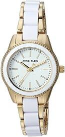 アンクライン 腕時計 レディース 【送料無料】Anne Klein Women's AK/3212WTGB Gold-Tone and White Resin Bracelet Watchアンクライン 腕時計 レディース