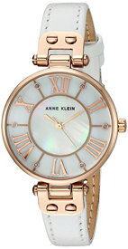 腕時計 アンクライン レディース 【送料無料】Anne Klein Women's Quartz Metal and Leather Dress Watch, Color:White腕時計 アンクライン レディース