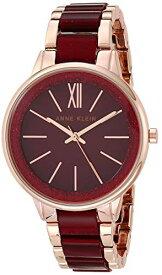 腕時計 アンクライン レディース 【送料無料】Anne Klein Women's AK/1412RGBY Rose Gold-Tone and Burgundy Shimmer Resin Bracelet Watch腕時計 アンクライン レディース