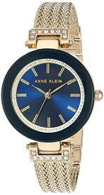 腕時計 アンクライン レディース 【送料無料】Anne Klein Women's AK/1906NVGB Swarovski Crystal Accented Gold-Tone Mesh Bracelet Watch腕時計 アンクライン レディース