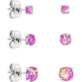 ボディキャンディー ピアス アメリカ 日本未発売 ブランド 【送料無料】Body Candy Stainless Steel Pink Synthetic Opal Post Stud Earring Pack of 3ボディキャンディー ピアス アメリカ 日本未発売 ブランド