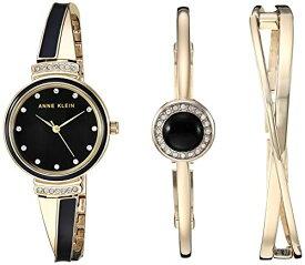 腕時計 アンクライン レディース 【送料無料】Anne Klein Women's AK/3292BKST Swarovski Crystal Accented Gold-Tone and Black Watch and Bangle Set腕時計 アンクライン レディース