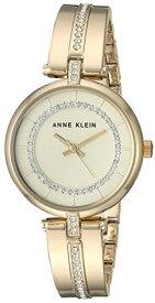 アンクライン 腕時計 レディース 【送料無料】Anne Klein Women's AK/3248CHGB Swarovski Crystal Accented Gold-Tone Bangle Watchアンクライン 腕時計 レディース