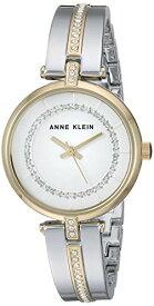 腕時計 アンクライン レディース 【送料無料】Anne Klein Women's AK/3249SVTT Swarovski Crystal Accented Two-Tone Bangle Watch腕時計 アンクライン レディース