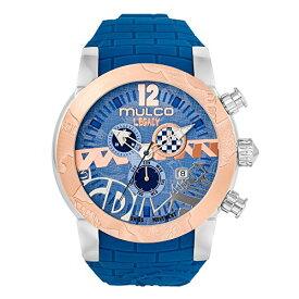 腕時計 マルコ レディース 【送料無料】Mulco Legacy Street Art Quartz Swiss Chronograph Movement Women's Watch | Premium Sundial Display with Gold Sport Accents | Silicone Band | Water Resistant Stainless Steel Watch (Blu腕時計 マルコ レディース