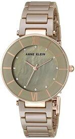 アンクライン 腕時計 レディース 【送料無料】Anne Klein Women's AK/3266KHRG Swarovski Crystal Accented Rose Gold-Tone and Khaki Ceramic Bracelet Watchアンクライン 腕時計 レディース