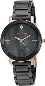 アンクライン 腕時計 レディース 【送料無料】Anne Klein Women's AK/3364BKRG Diamond-Accented Rose Gold-Tone and Black Ceramic Bracelet Watchアンクライン 腕時計 レディース