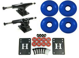 ウィール タイヤ スケボー スケートボード 海外モデル DECK 【送料無料】Havoc 5.0 Black/Black Skateboard Trucks + 52mm Blue Wheels Comboウィール タイヤ スケボー スケートボード 海外モデル DECK